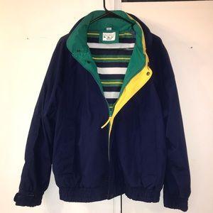 Vintage Oceanside Nautical Jacket Built-In Hood